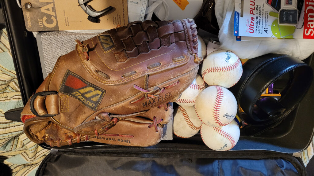 Baseball glove donation Joshua Marius