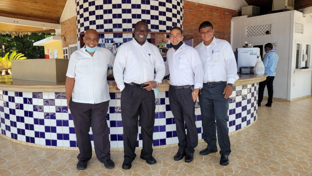 Waiters at Club de La Costa